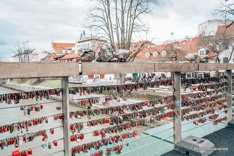 Locks on Butcher's Bridge Ljubljana