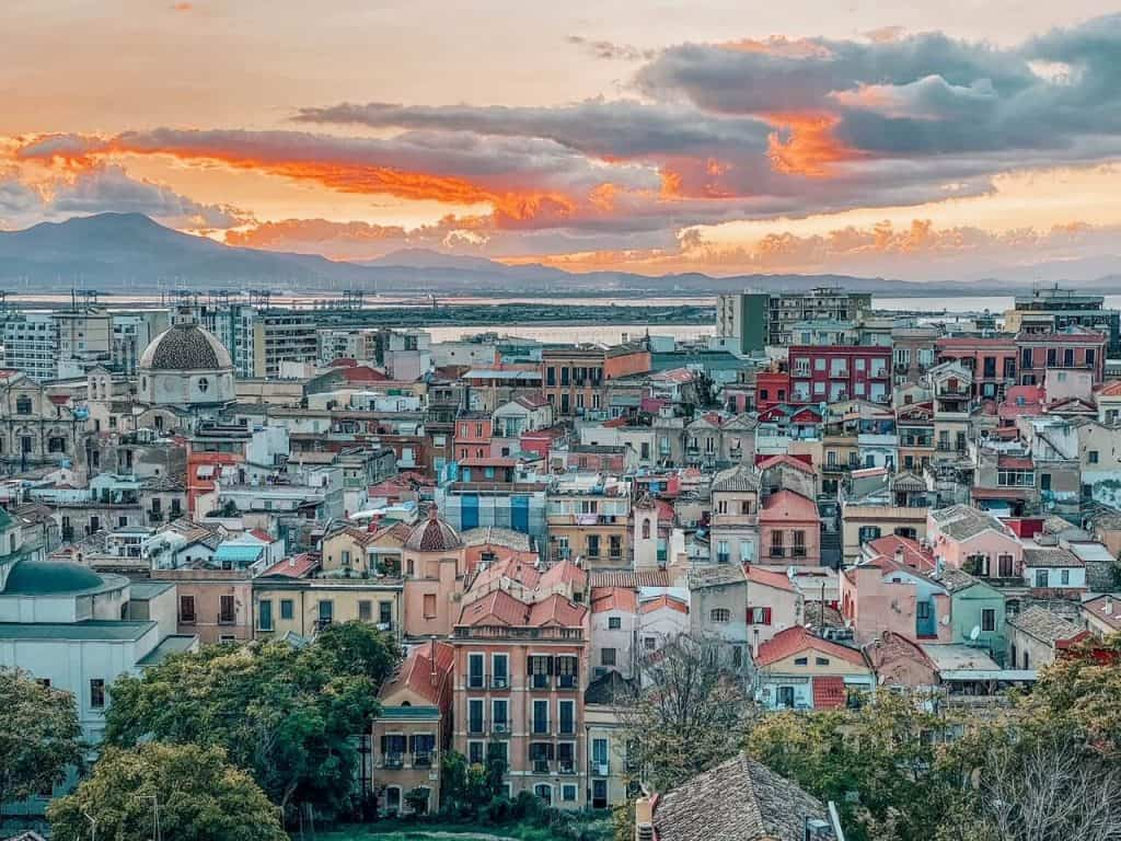City views of Cagliari Italy