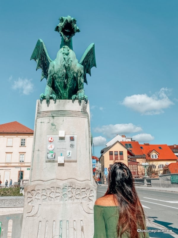At the Dragon Bridge Ljubljana