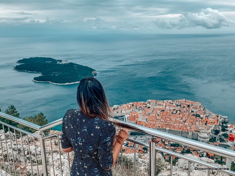 View of Dubrovnik from the funicular