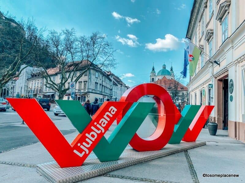 Ljubljana Signage near the tourism office