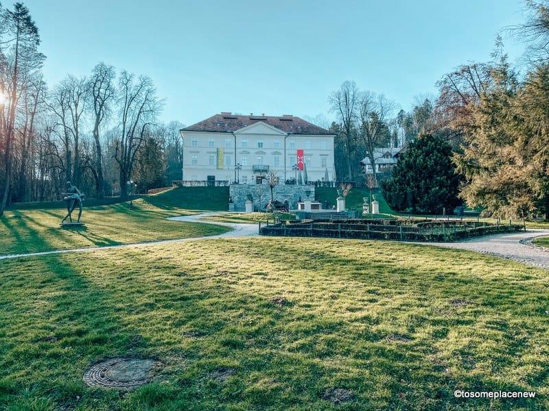 Walk at the Ljubljana Tivoli City Park