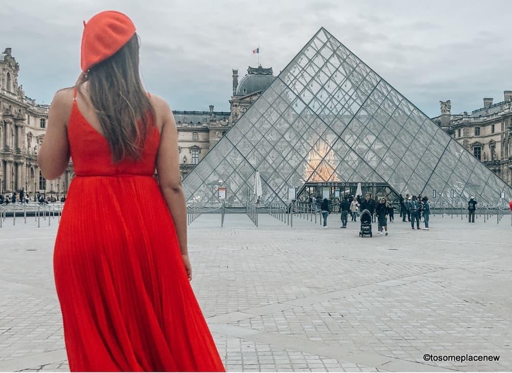 Girl at the Louvre Museum Paris