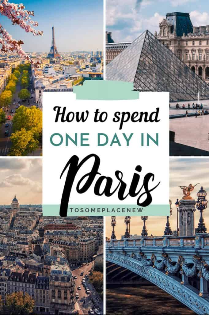 Pin for One day in Paris itinerary