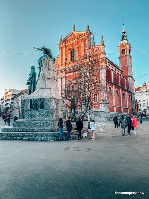Heart of Prešernov trg Square