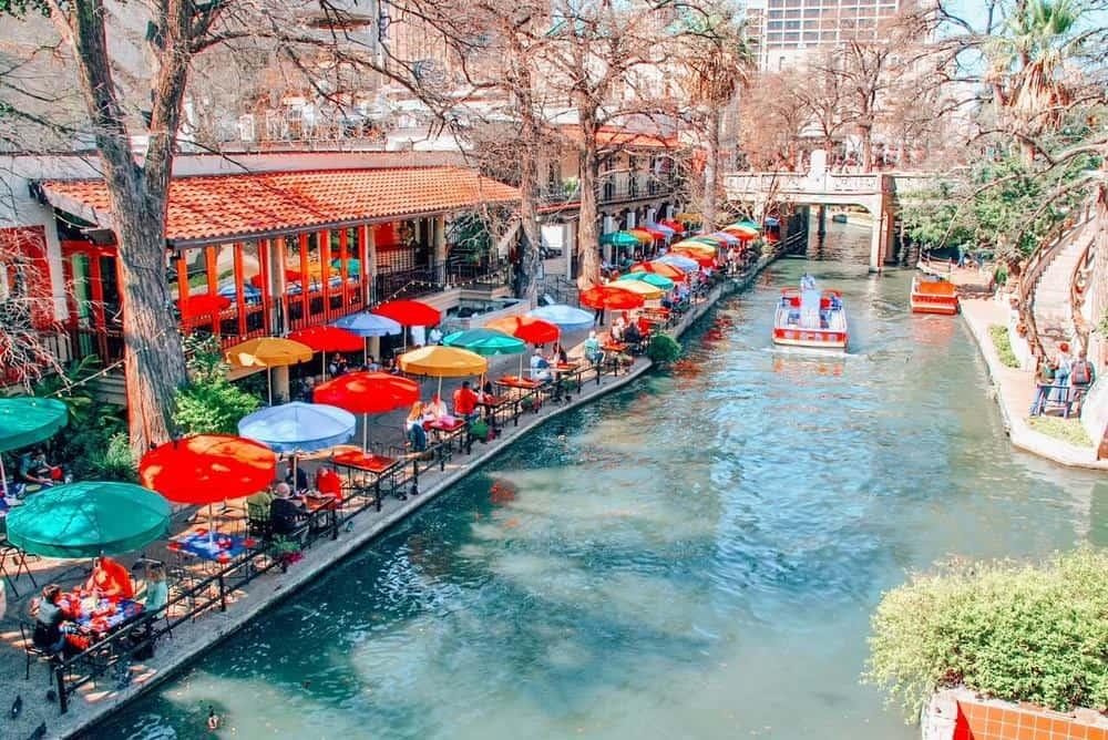 Colorful Cafes in San Antonio River Walk