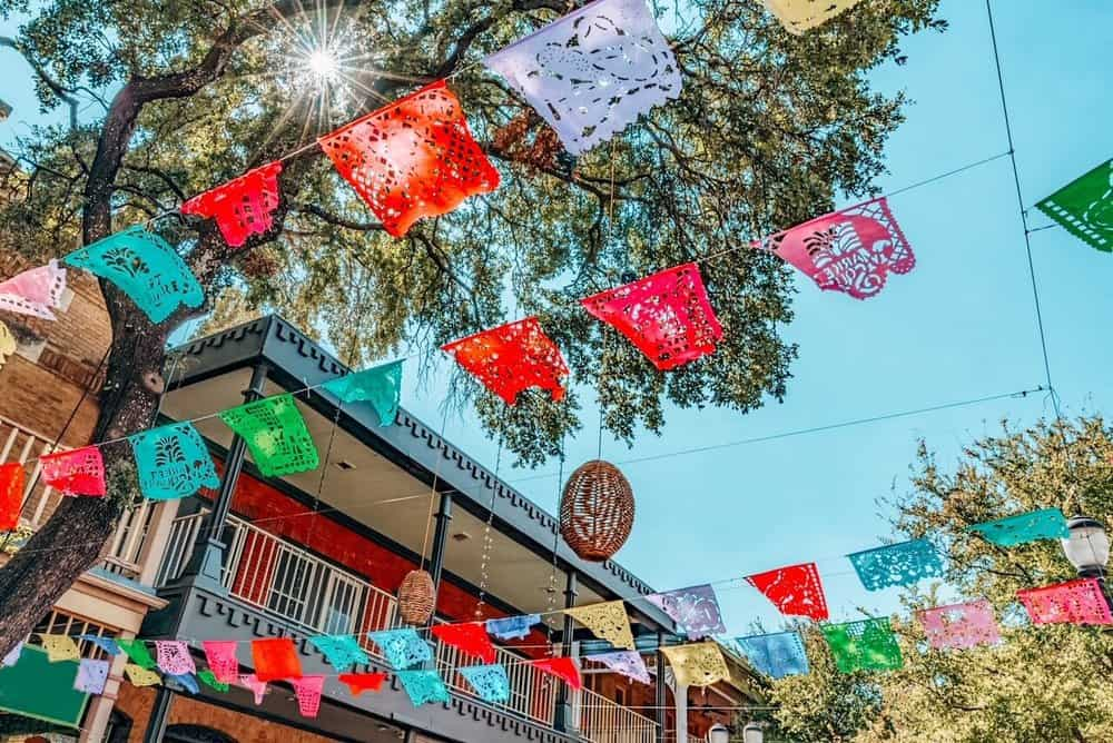 Colorful decoration of San Antonio Market Square