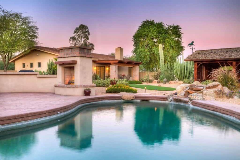 Scottsdale Desert Estates Oasis Pool view