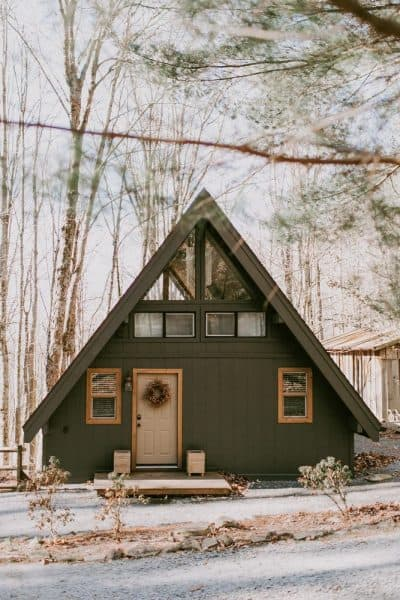 Storybook-A-Frame-Cabin-Best-Airbnbs-in-Boone-NC Photo by Airbnb