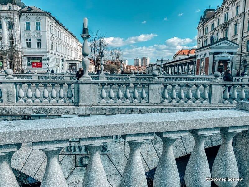 Architectural details of the Triple Bridge