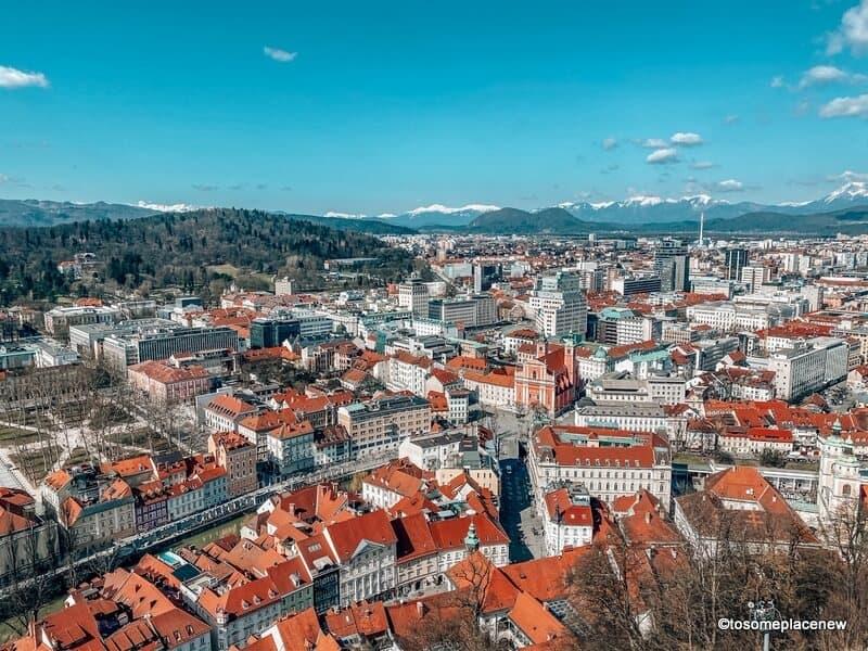 Views from Ljubljana Castle tower