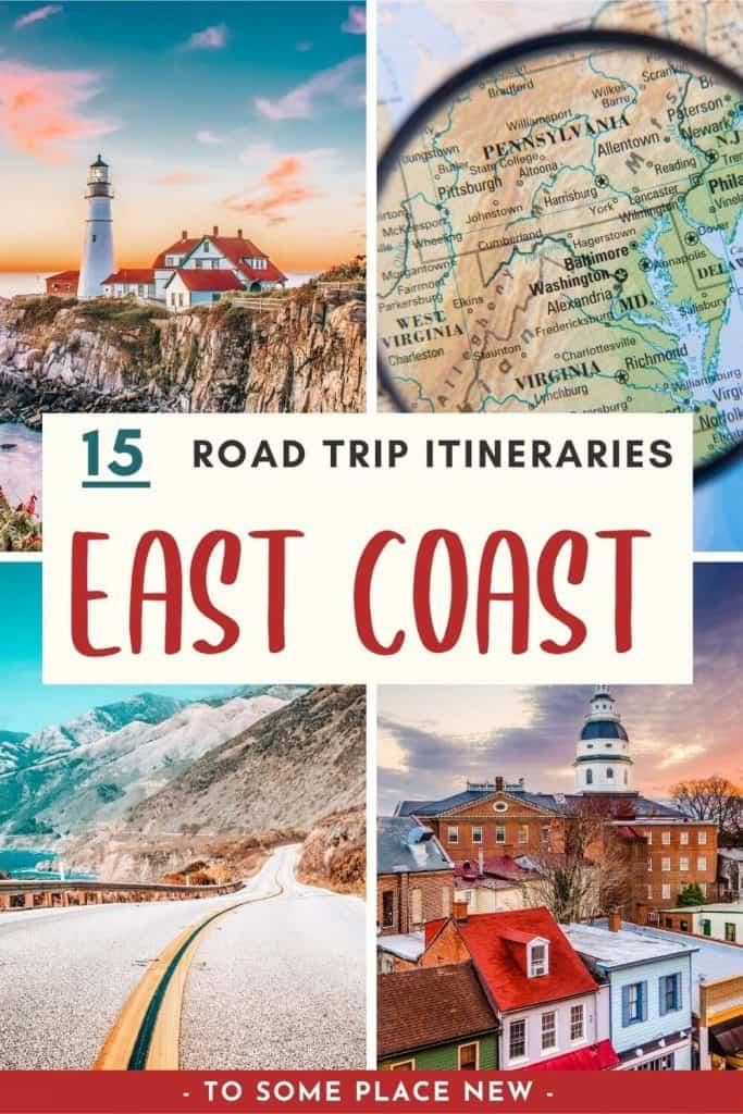 Pin for East Coast road trip ideas