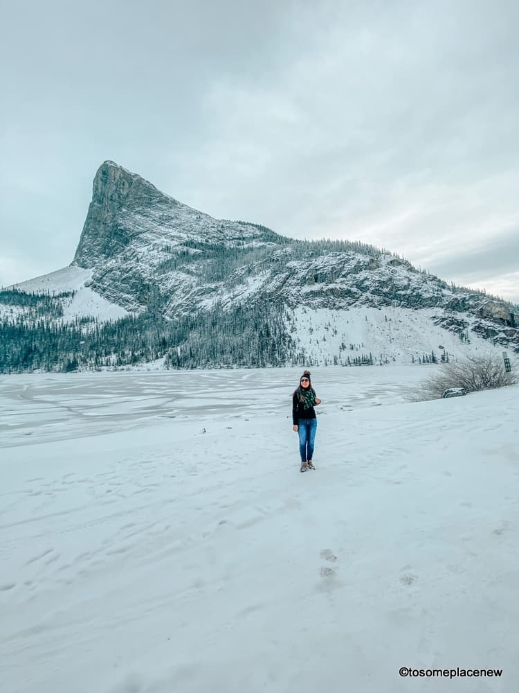 Ha Ling Peak Canmore in winter
