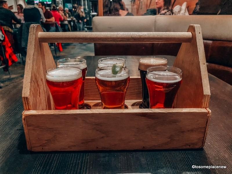 Beer sampling at the Jasper Brewing Co