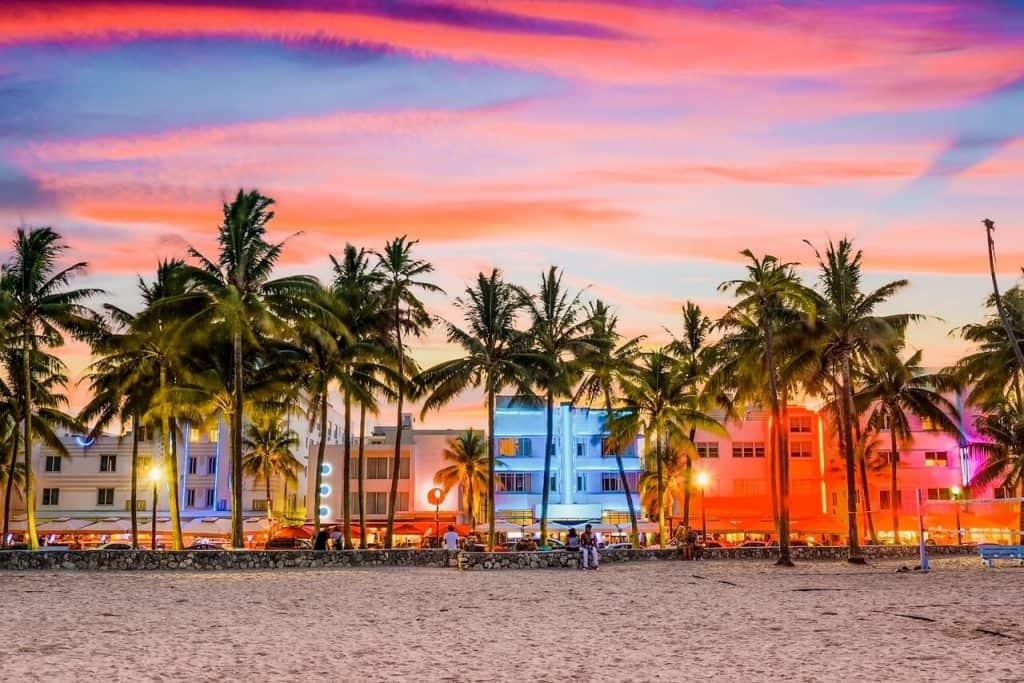 Miami Beach in US weekend getaways