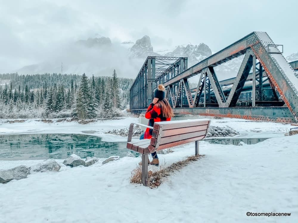 Views of Old Engine Bridge Canmore