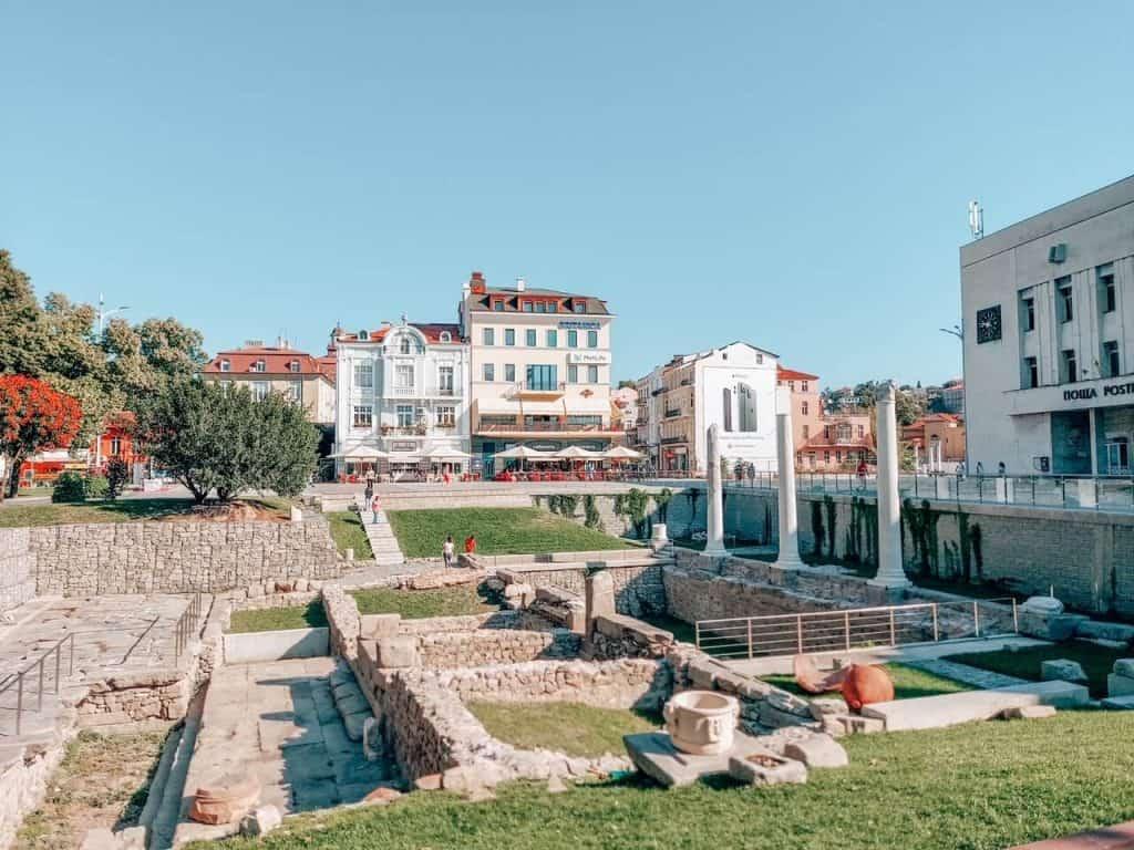 Roman Ruins in Plovdiv Bulgaria