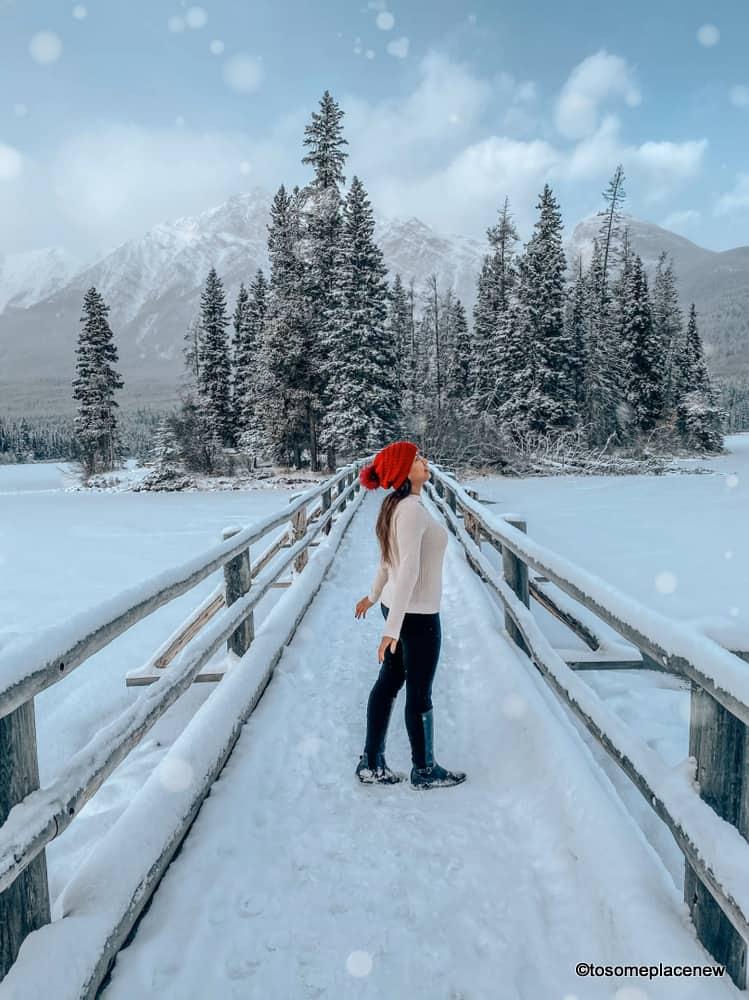 Pyramid Lake Island in Jasper