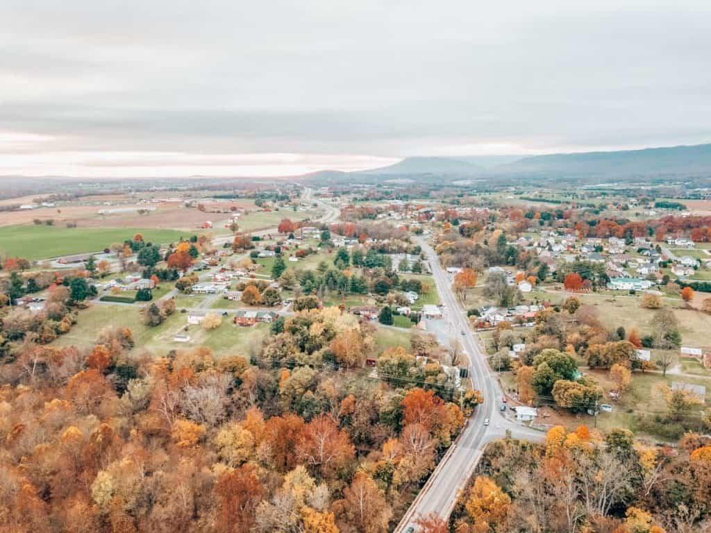 Shenandoah Valley on east coast USA Road trip itinerary