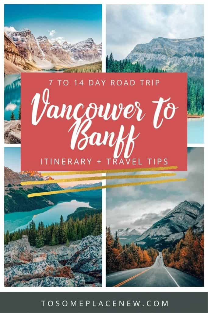 Pin for Vancouver to Banff itinerary