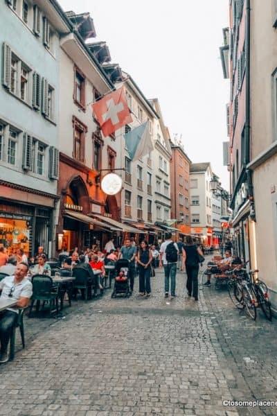 Lanes in old town Zurich in 2 days in Switzerland itinerary