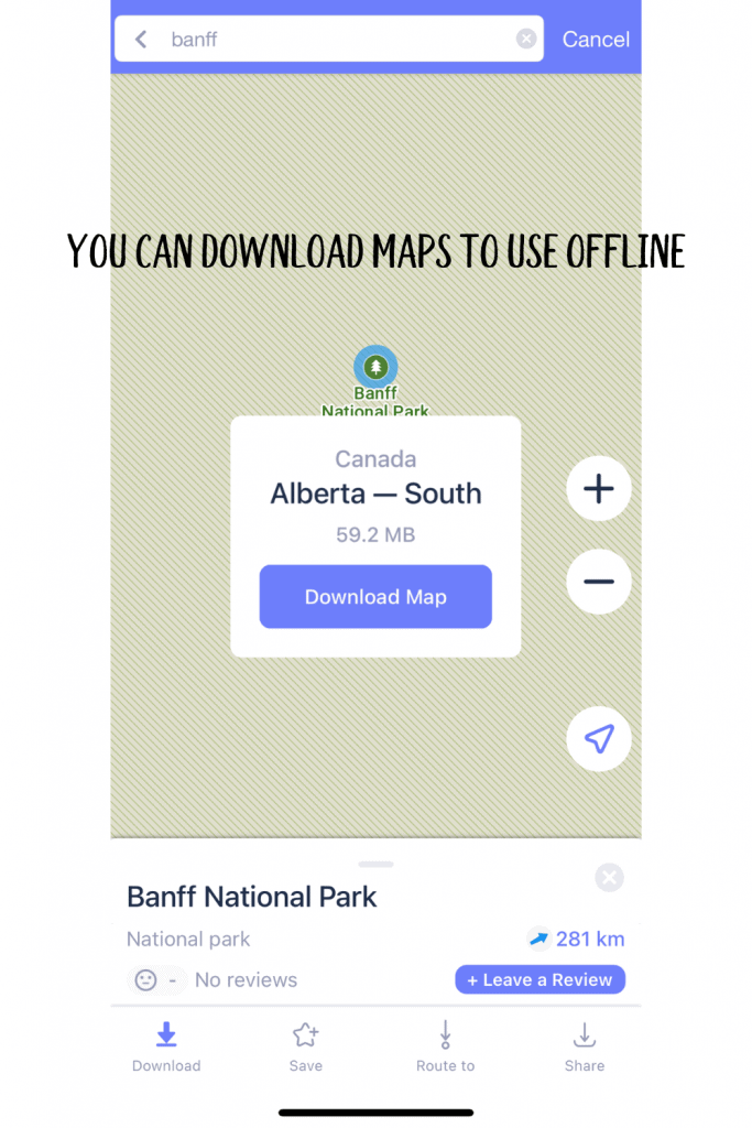 You can also download entire city maps offline