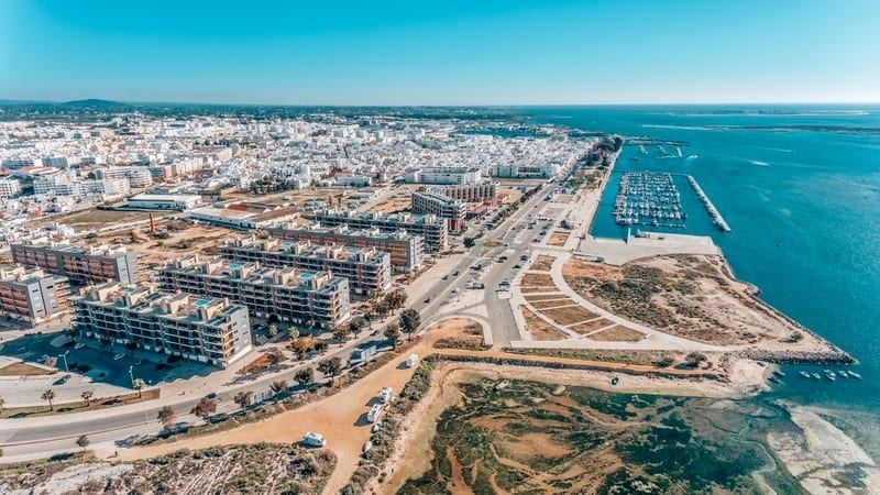 Aerial view of Olhao, Algarve, Portugal