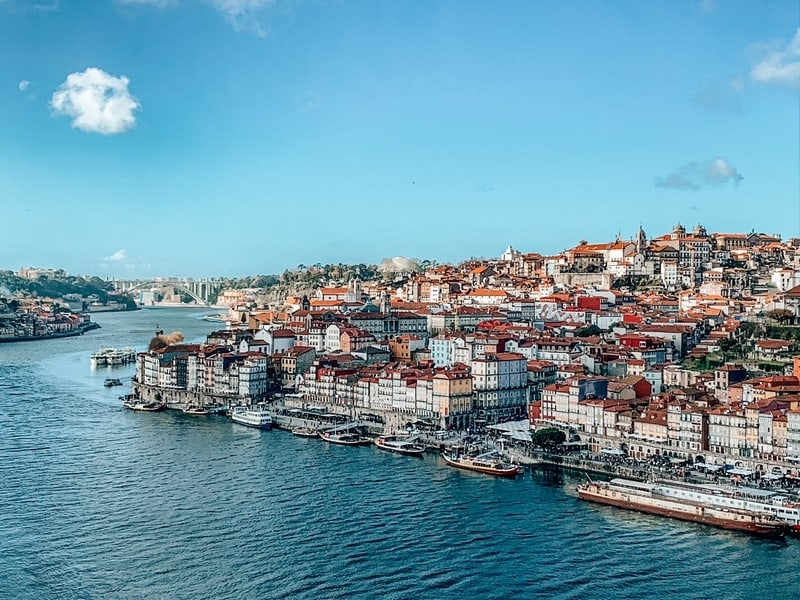 Views of city centre Porto in most beautiful cities in Portugal