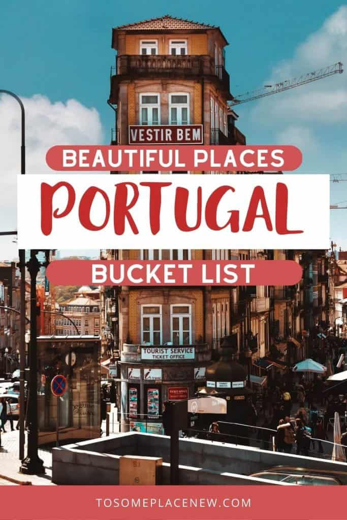 Pin for most beautiful cities in Portugal