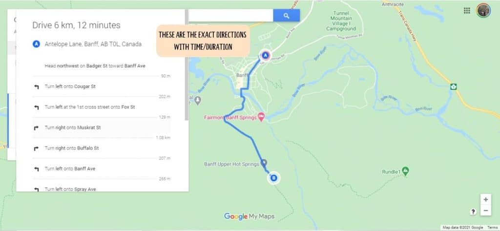 See the entire duration of the road trip in Google Maps