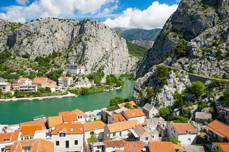 The Cetina River at Omis Croatia