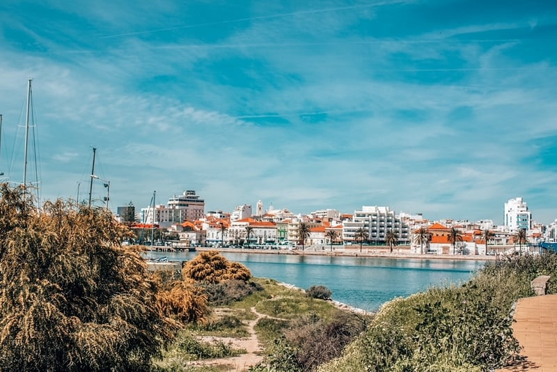 View of the city of Portimao: Portugal best cities