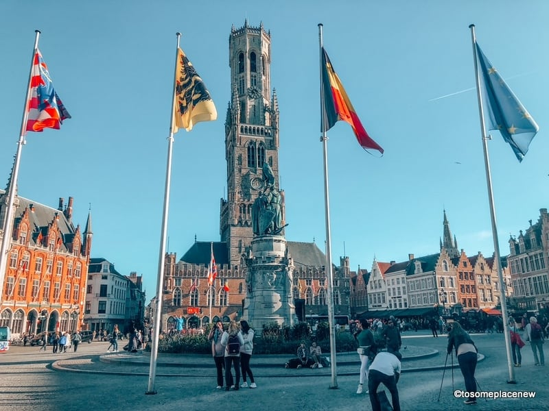 Hustle bustle at the Bruges City Centre