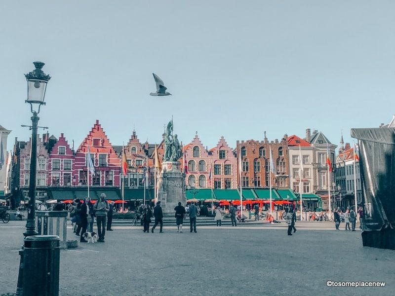 Morning in Bruges Belgium