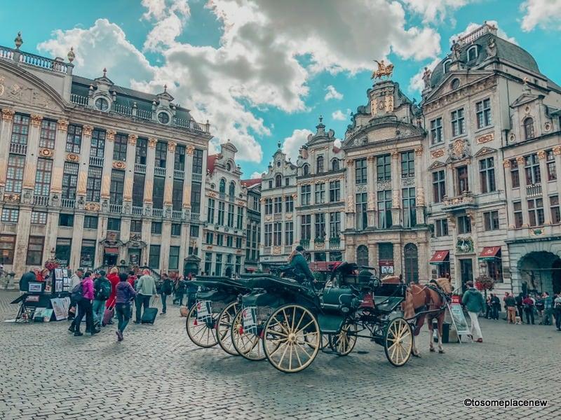 Horse Carriage ride in Brussels Belgium