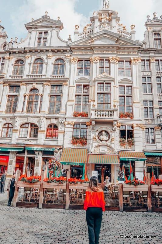 Girl in Brussels Belgium City Centre