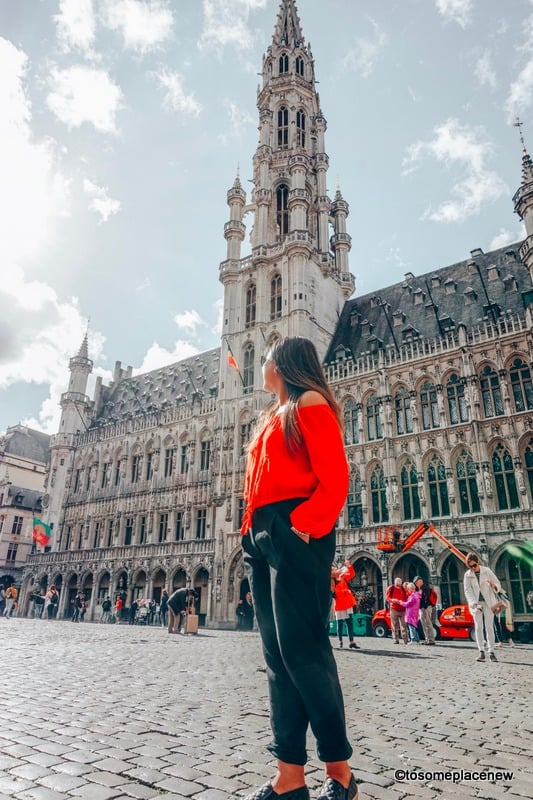 Girl in Brussels Town Centre Belgium itinerary