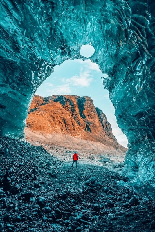 Visit an ice cave and add it to Iceland bucket list