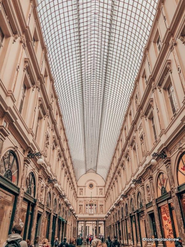 Interiors of Saint-Hubert Royal Galleries