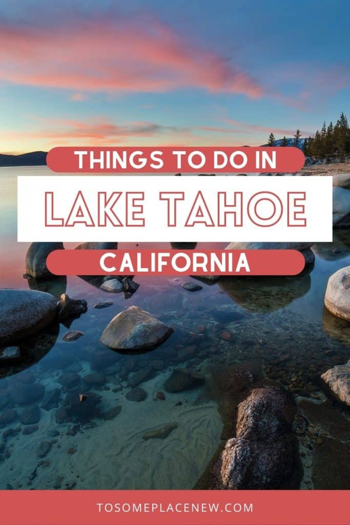 Pin for Lake Tahoe in summer