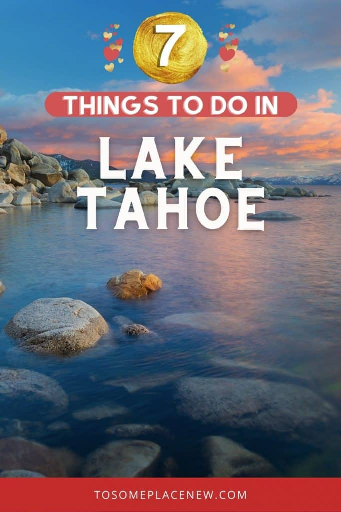 Pin for things to do in Lake Tahoe in summer