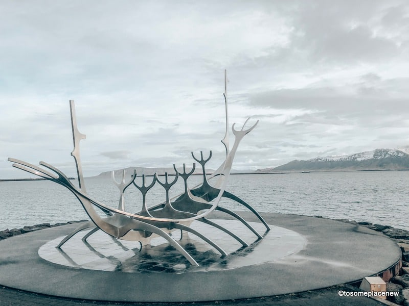The Sun Voyager is located in the capital city of Iceland. It is a beautiful sculpture, designed  by Jón Gunnar Árnason.
