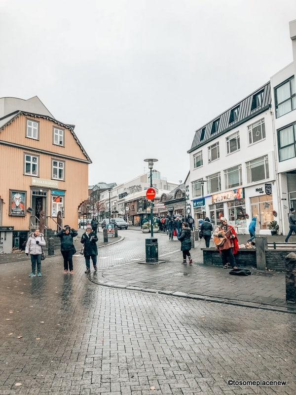 Viking singers in Reykjavik