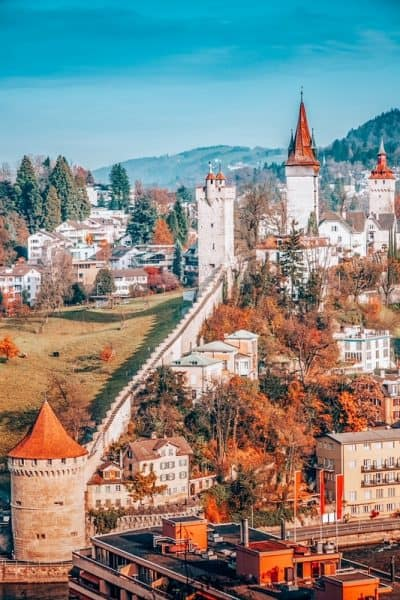 Panorama of Lucerne. Lucerne, Switzerland. Wondering where to stay in Switzerland for first time visitors? This detailed guide covers popular destinations, with top picks & more