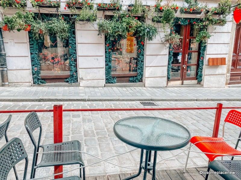 Cafes in Zagreb in march