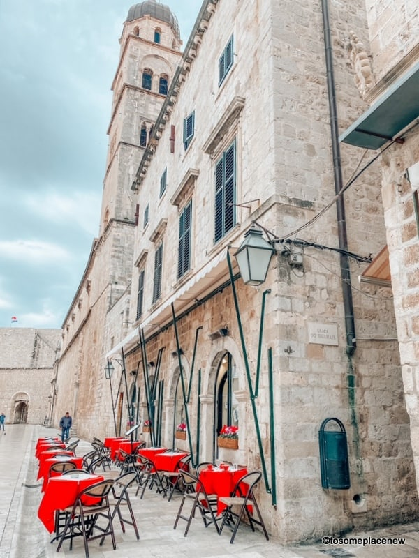 Cafes in Dubrovnik Croatia