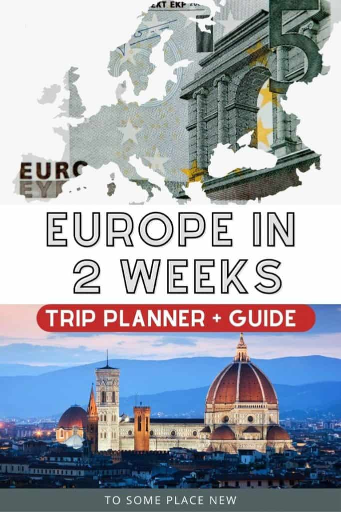 Pin for Best Europe itinerary 2 weeks