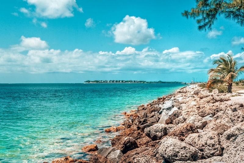 Coastal views of Key West