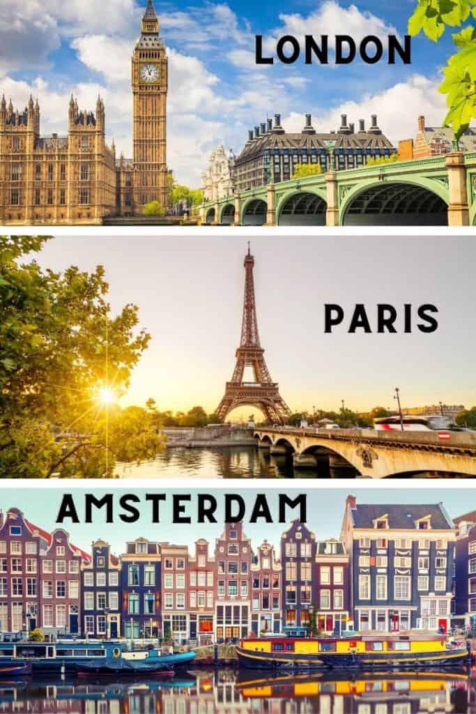 London Paris Amsterdam Europe itinerary 2 weeks