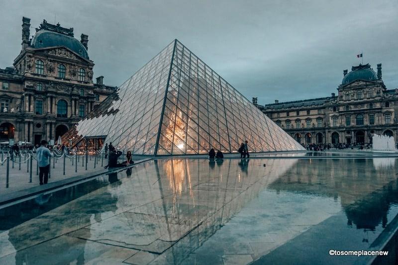 Louvre Museum in the evening in Paris: Paris in September